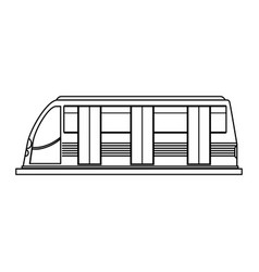 Modern high speed train icon image vector