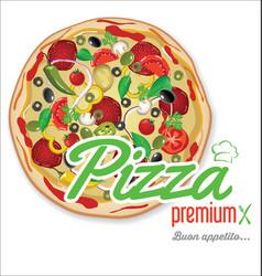 Pizza background retro design 3 vector