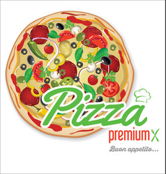 pizza background retro design 3 vector image vector image