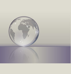 planet earth as a glass ball vector image