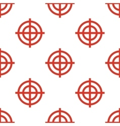 Red Targets seamless pattern vector image vector image