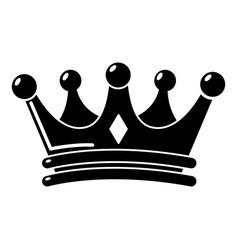 Regal crown icon simple style vector