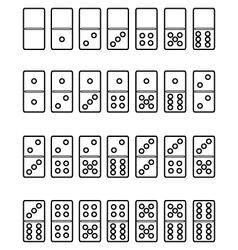 Set of domino vector
