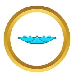 Small ocean waves icon vector