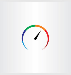 Speedometer logo icon element vector