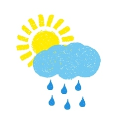 Sun cloud and rain vector image vector image