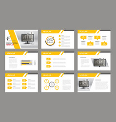 Set of presentation template vector