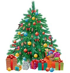 Spruced christmas tree vector