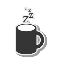Cup coffee caffeine sleep vector