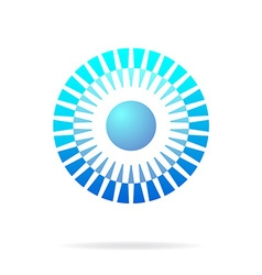 Abstract blue circle connection concept vector image