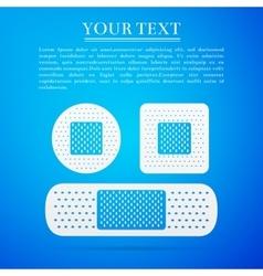Bandage plaster flat icon on blue background vector
