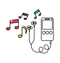 Digital music player icon image vector