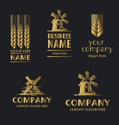 Logo bread vector