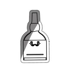 Whisky glass bottle vector