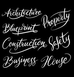 construction hand written typography vector image