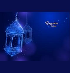 Ramadan lantern form of a starry sky eid al-fitr vector
