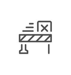 Customs service line icon vector