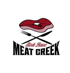Meat creek steak house vector