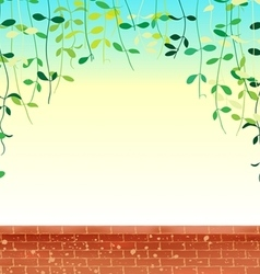 Wall leaves sky vector