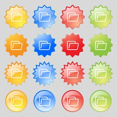 Folder icon sign big set of 16 colorful modern vector