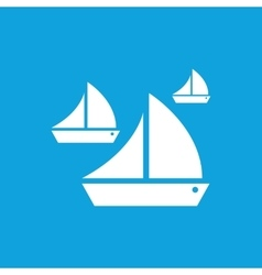 Sailing icon simple vector