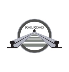 Logo railroad vector