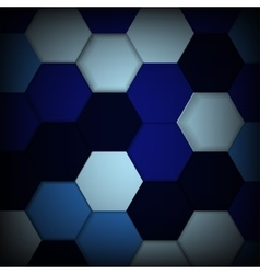 Abstract blue background with hexagons and shadows vector