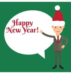 Happy new year concept with businessman vector