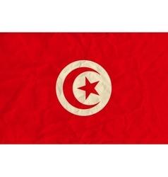 Tunisia paper flag vector image