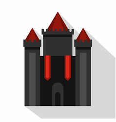 Ancient fort icon flat style vector