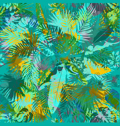 Artistic summer grunge seamless pattern vector
