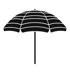 Beach umbrella icon simple style vector image
