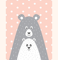 Bear and the little bear vector