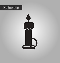 Black and white style icon halloween wax candle vector