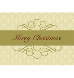 Christmas card design vector image vector image