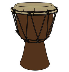 Classic wooden drum vector