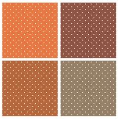 Dark brown polka dots seamless pattern set vector image vector image