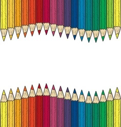 doodle colored pencil border wave vector image vector image