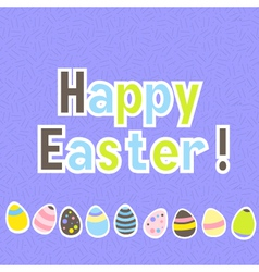 Easter colorful purple greeting card vector image vector image