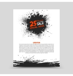 Flyer Design Template Black Friday vector image vector image