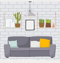 furniture room interior design apartment home vector image