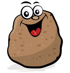 Happy potato character vector