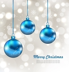 Holiday Background with Snowflakes and Christmas vector image