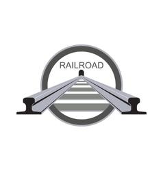 Logo railroad vector