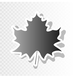 Maple leaf sign new year blackish icon on vector