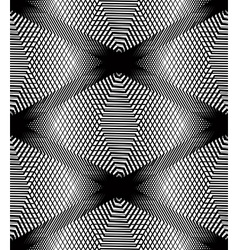Monochrome stripy endless pattern art continuou vector