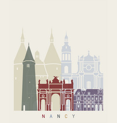 nancy skyline poster vector image vector image