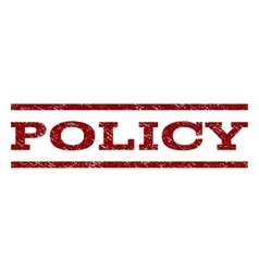 Policy watermark stamp vector
