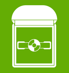 ring in a velvet box icon green vector image vector image