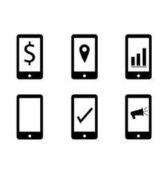 set mobile marketing on white background make vector image vector image
